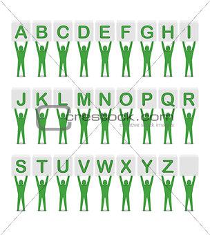 Alphabet. Set of letters.