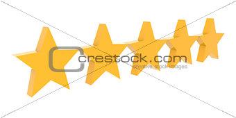 Five stars rating.