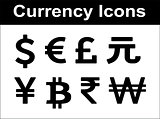 Currency icons set.