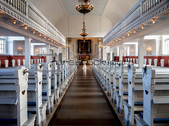 Skagen Church interior, Denmark