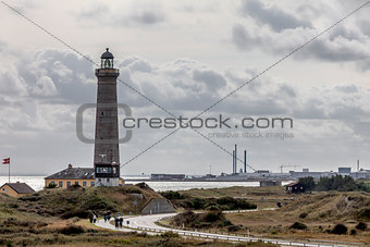 The Grey lighthouse in Skagen