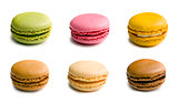various type of macaroons
