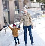 family ice skating