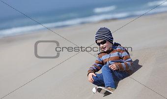 kid at dunes
