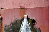 Drainage from Great Lakes Freighter