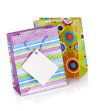Two colored gift bags