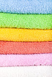 Colored towels background