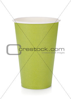 Green paper coffee cup