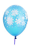 Blue balloon with flower decoration