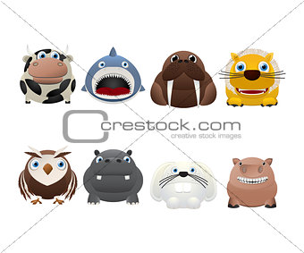 Funny animal icons