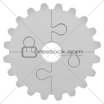 Gear consisting of puzzles
