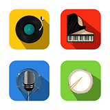Music and party icons