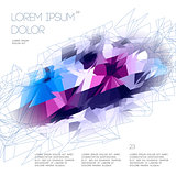 Abstract polygonal template design, vector Eps10 illustration.