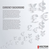 Currency symbol on a white background