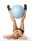 body gym girl with a big ball