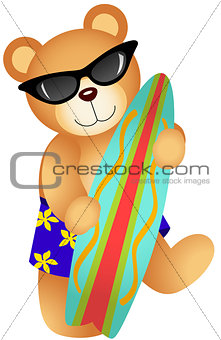 Surfing Teddy Bear