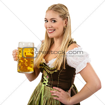 Oktoberfest waitress with beer