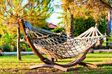 Hammock to relax in the tropical garden