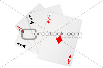 Four aces in poker - Kare