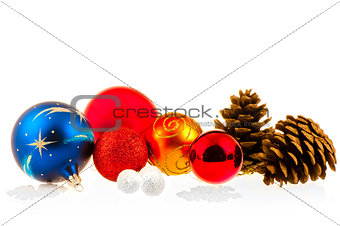 Christmas balls and cones
