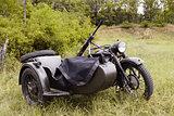 Motorbike with a machine gun
