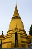 The main chedi at the Emerald Buddha Temple, Bangkok, Thailand