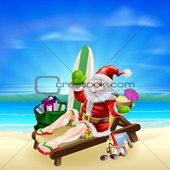 Surf Summer Santa
