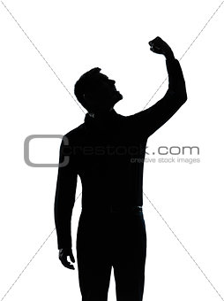 one business man angry fisting up silhouette