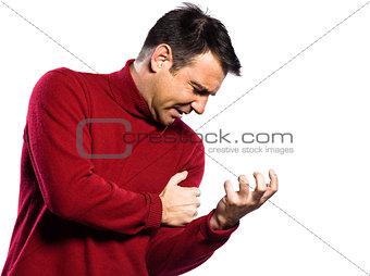 caucasian man heart attack