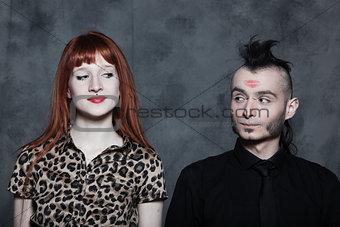 cute strange couple