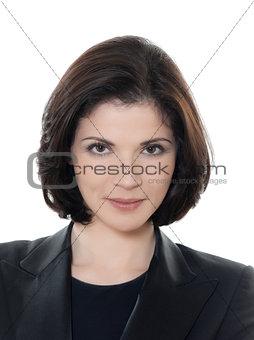 beautiful smiling caucasian business  woman portrait