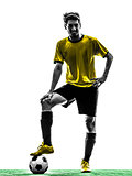 brazilian soccer football player young man silhouette