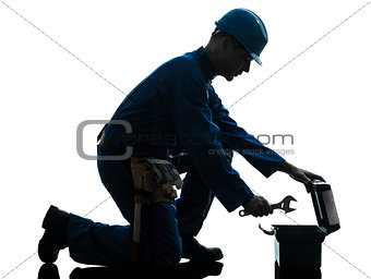 repair man worker silhouette