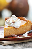 Pumpkin Cheesecake Pie with Whipped Cream