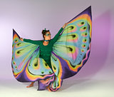 dancing butterfly woman