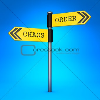 Chaos or Order. Concept of Choice.