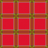 Seamless red checkered pattern