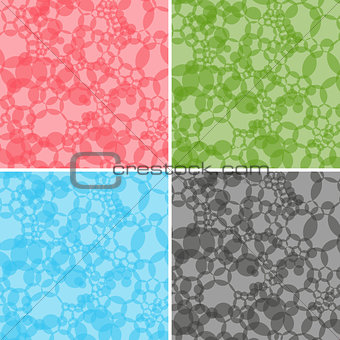 Four seamless abstract vector patterns