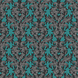 Seamless Damascus grey pattern, vector Eps10 illustration.