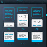 Template and elements for web design, vector Eps10 image.
