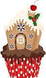 Christmas House Cupcake