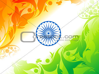 abstract artistic indian flag background