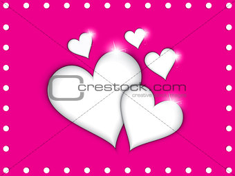 abstract red shiny heart icon vector illustration