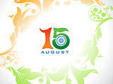 abstract artistic indian independence day background