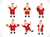 multiple santa icon set