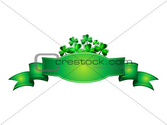 abstract st patrick banner