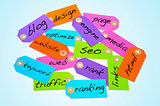 search engine optimization and internet concepts