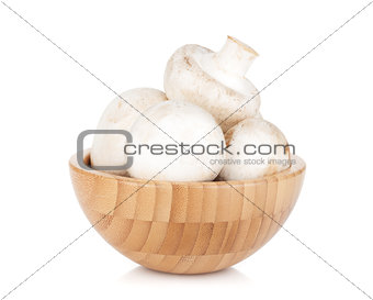 Bowl with champignon mushrooms