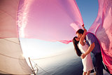 kiss under the sail