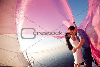 kiss under the sail